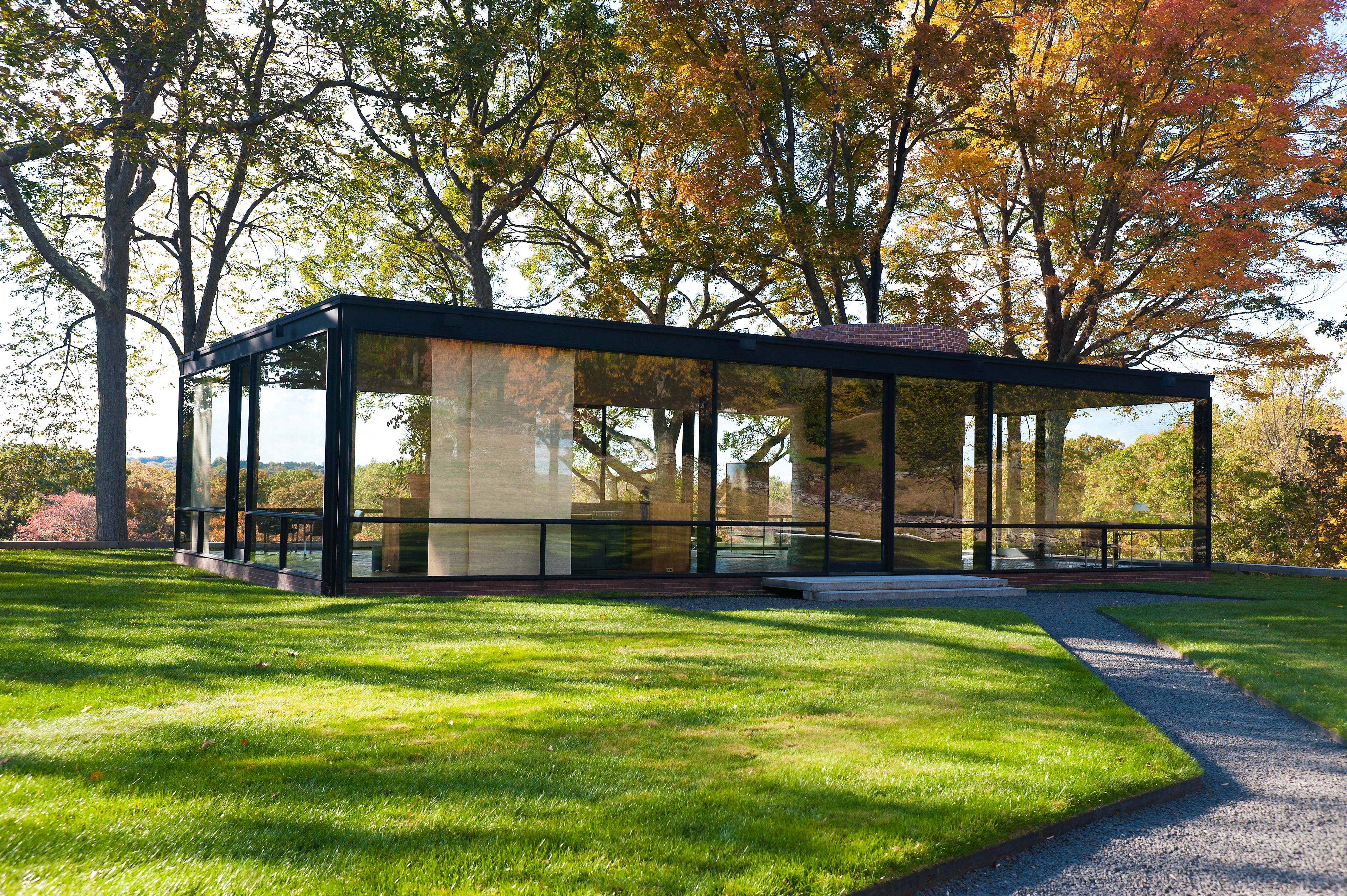 philip johnson s glass house blake robinson photography. Black Bedroom Furniture Sets. Home Design Ideas